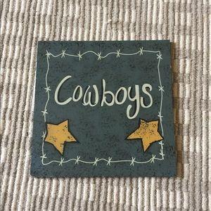 Cowboy sign